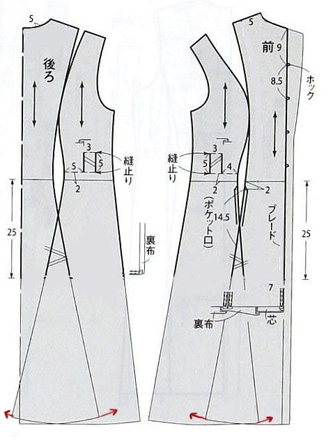Чертёж выкройки платья 54 размера